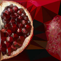 Abstract Art : Fruits : Pomegranate by kenkchow