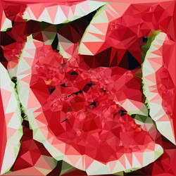 Abstract Art : Fruits : Watermelon by kenkchow