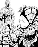 Marvel Zombies Cap and Spidey by JonathanGrimm