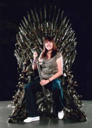 Shauni flesh on the iron throne by Shauni-chan