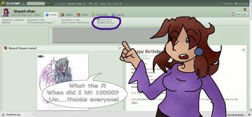 10000 Pages views! Woo! by Shauni-chan