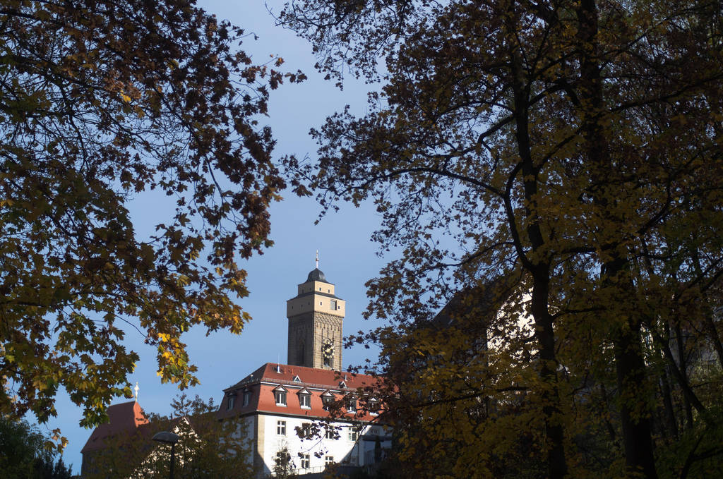 Church tower and trees by advdiaboli