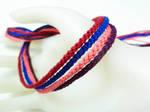 Wild Berry Skittles Bracelet Set by QuietMischief