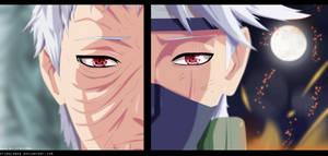 Naruto 655 - Kakashi and Obito by StingCunha
