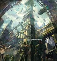 High technology city 'selone' by phoenix-feng