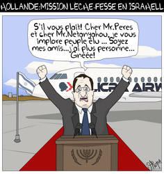 Hollande en mission a IsraHell by wunderbach