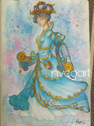 Chang e smite traditional art by nVegart