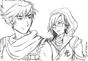 Strider Hiryu and Strider Tora by VerruecktNachSokka