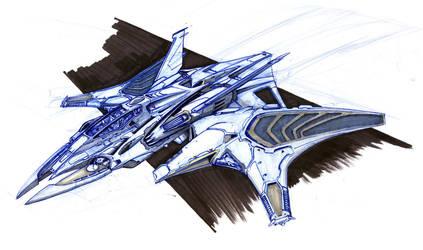 NT-1 Electrogravitic Jet by SpireKat