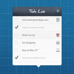 Todo List preview by JeremDsgn