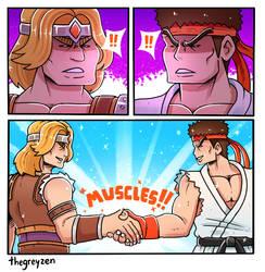 MUSCLES! by thegreyzen