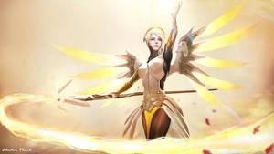 Mercy Overwatch by Jackiefelixart
