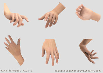 Hand Pose reference pack 1 by Jackiefelixart