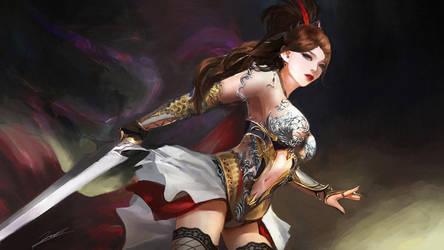 Crimson Sword by Jackiefelixart