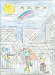 Oberon, Tina, and Puck by Kelseyalicia