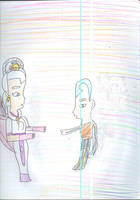 Aang meets Alanna the White Spirit of Life by Kelseyalicia