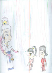 Alanna choosing Kishi and Kami for the Sisterhood  by Kelseyalicia