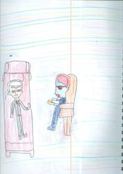Vlad has a therapy session with Freud's ghost by Kelseyalicia