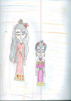 Kimana and Ember as they'd appear in the series by Kelseyalicia