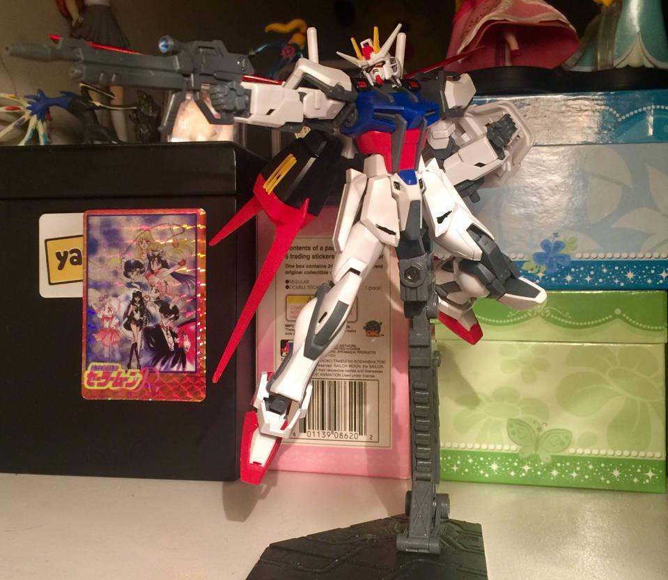 HG 1/144 Aile Strike Gundam  by SoniaStrummFan217