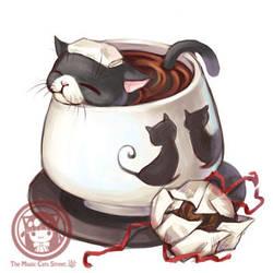 tea cat by swdd-cat
