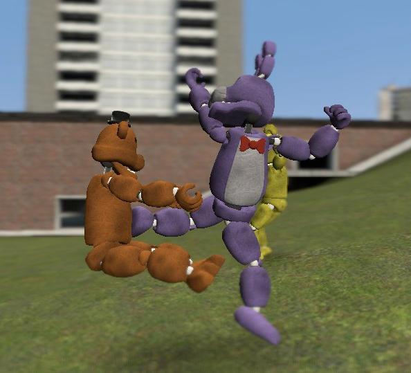 Bonnie Karate Kicks Freddie (gmod) By Lombaxlover134 On