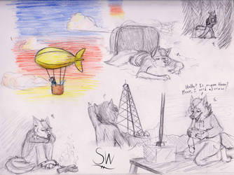 Survival sketches by Toothlessdragon11