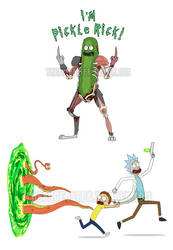 Rick and Morty Stickers by ThePhoebster