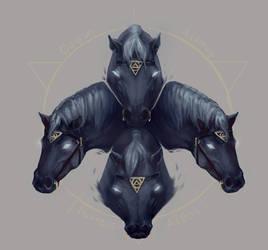 Hades' Hell Horses by Stigerea