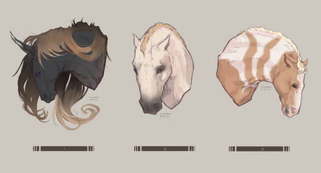 Horse YHC headhshot 3/3 completed by Stigerea