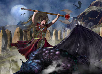 Cassandra Dragon Slayer WIP by The-Fattness