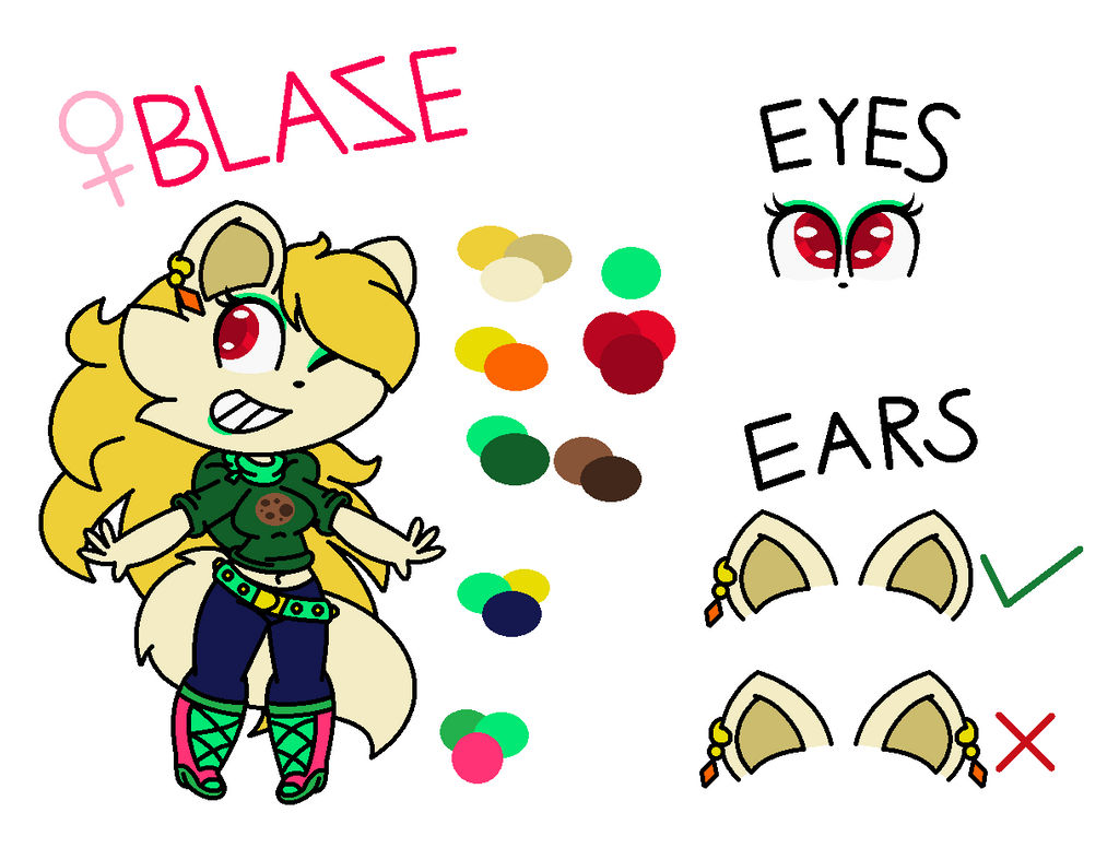 Blaze (Updated Ref Sheet)(Read Description) by SuperLuigi1025