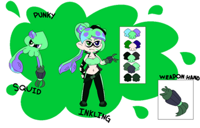 Punky Ref Sheet(Read Description For Info) by SuperLuigi1025