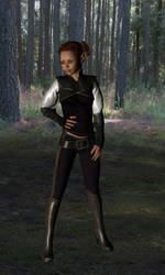 Ciara - Elven Monk OC by BrynneEmrys