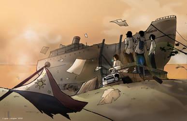 REAL BOYS DONT ABANDON SHIP by Tigas-langaw