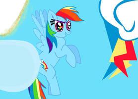 Rainbow Dash Sky by AngryDaisy16