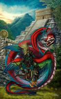 Quetzalcoatl e Tezcatlipoca by filhotedeleao