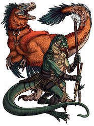 Komodo-kin Hunter by filhotedeleao