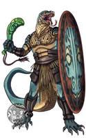 Komodo-kin Warrior by filhotedeleao