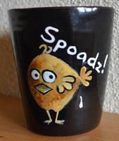 Austrian dialect-Mug: Spoadz by Frollino