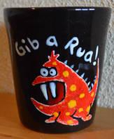 Austrian dialect-Mug: Gib a Rua by Frollino