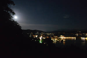 Woerthersee by night by Frollino