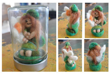 Felted fairy by Frollino