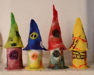 Little felted houses II by Frollino