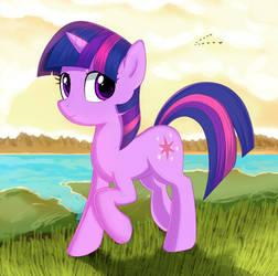 Purple unicorn by kas92