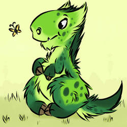 Tufty Fluffy Trex by Davuu
