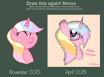 [Arty headshot redraw] Before and after meme by LeSmollestBean