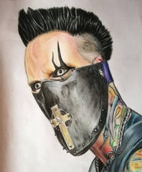 Travis Johnson (In this moment)  by ConileArt