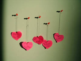 Hanging Hearts by Red--Roses