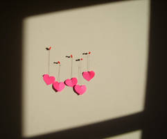 Hanging Hearts II by Red--Roses
